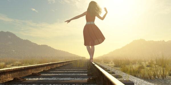 Meisje dat kan omgaan met mislukking waardoor ze bereid is risico's te nemen