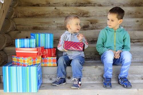 Rivaliteit tussen twee broertjes