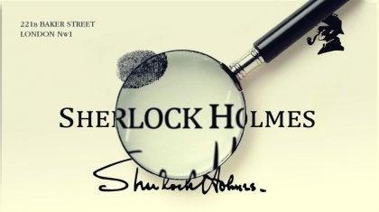 Sherlock Holmes kaartje