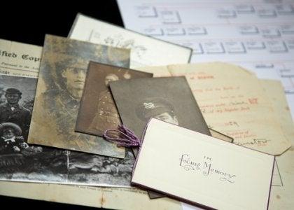 Oude foto's om een stamboom te maken