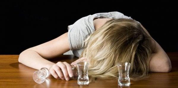 Vrouw met drankprobleem