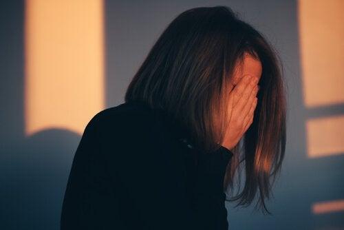 Vrouw met schuldgevoel