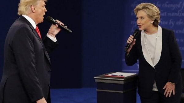 Politici Donald Trump en Hillary Clinton