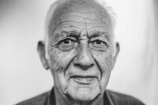 Gezicht van een oudere man