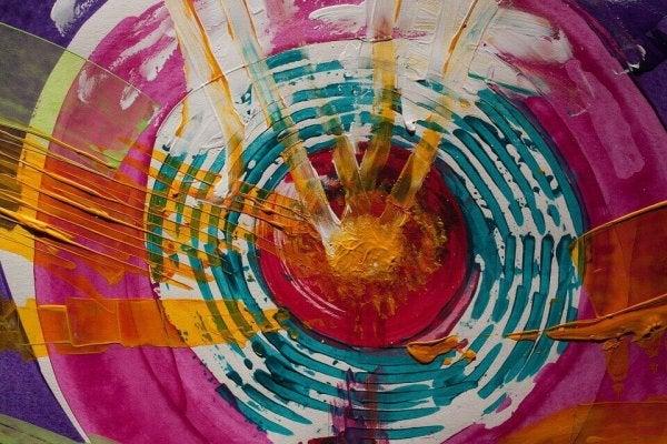Kleurrijke kunst om de zintuigen te stimuleren