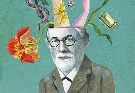 Schilderij van Freud
