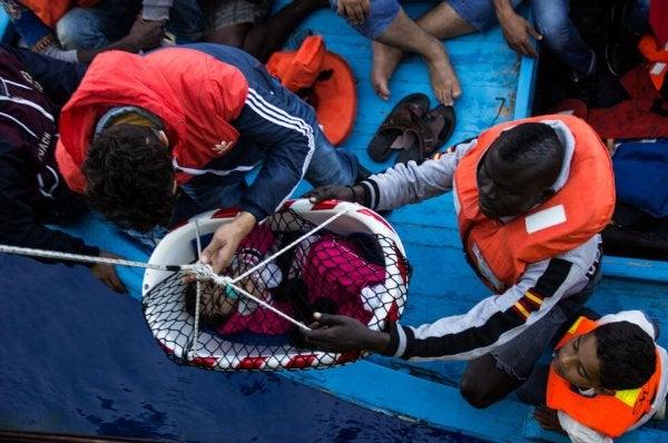 Vluchtelingen op zoek naar een beter leven