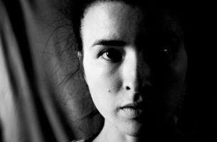 Vrouw met hemineglect