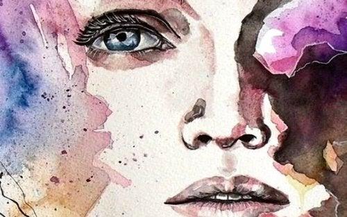 Waterkleur schilderij