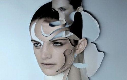 Puzzel van vrouwengezicht