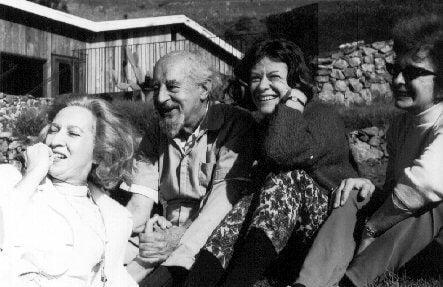 Foto van Fritz Perls en zijn vrienden