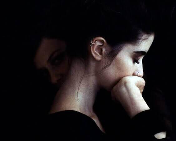 Vrouw met angststoornissen