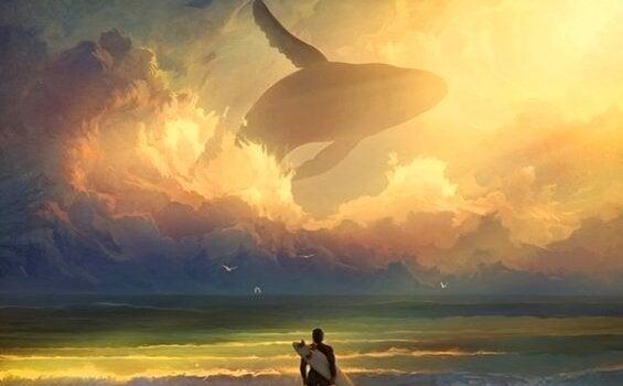 Walvis in de lucht