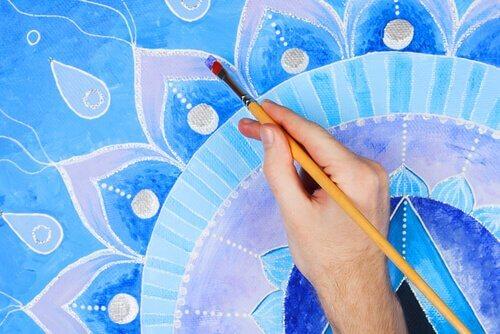 Blauwe mandala