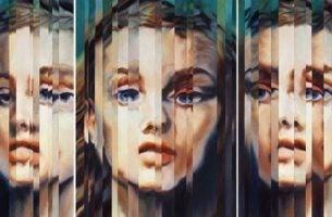 Vertroebeld gezicht als voorbeeld van dissociatie