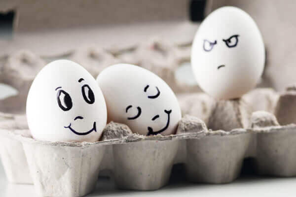 Eieren laten afgunst zien