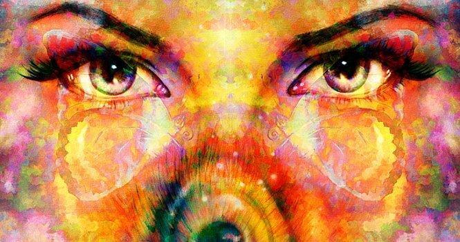 Schilderij van ogen