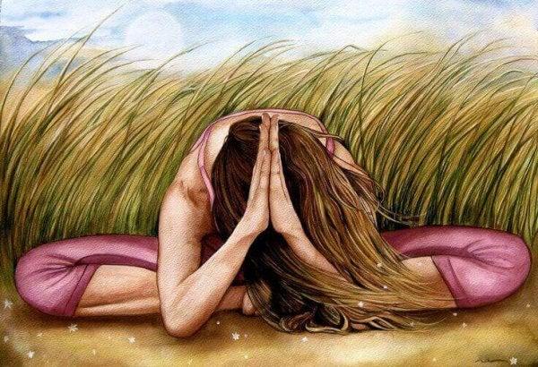 Vrouw mediteert: je intuïtie ontwikkelen