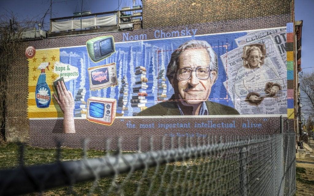 Graffiti van Noam Chomsky