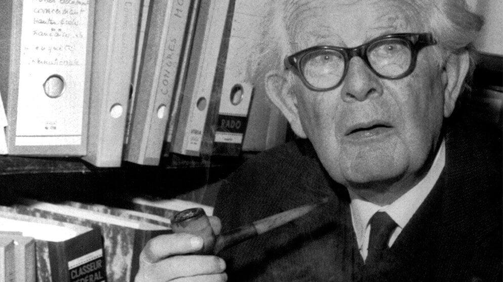 Foto van Piaget die zeer belangrijk was voor de cognitieve psychologie