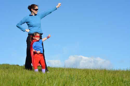 Kinderen die beschermd worden door supermoeders