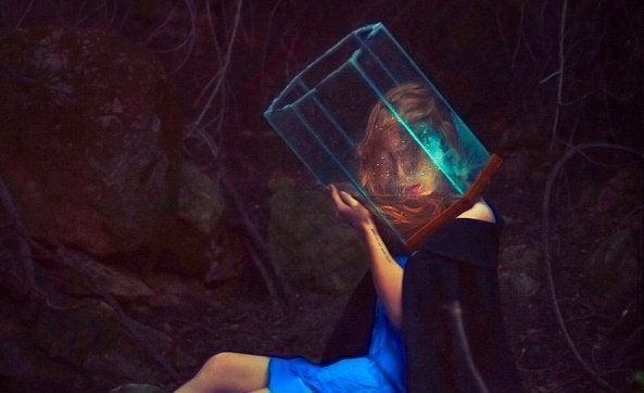 Vrouw met prisma