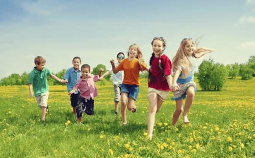 Kinderen die lopen