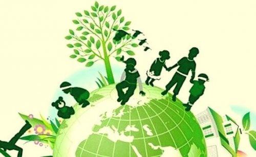 Kinderen in een groene wereld