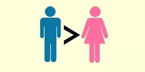 Symbool dat mannen beter zijn dan vrouwen