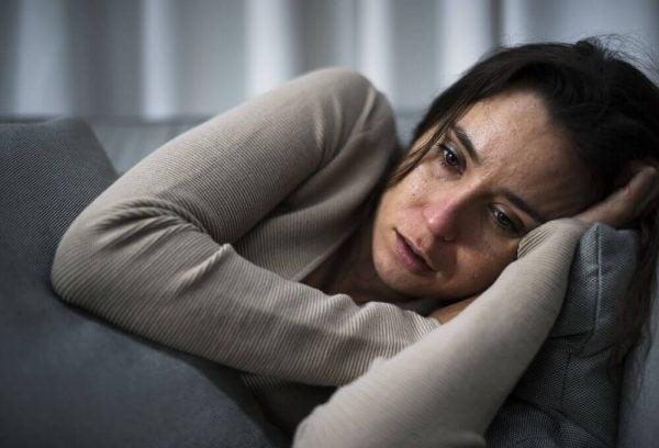 Vrouw met een depressie