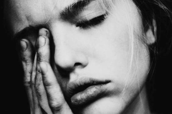 Vrouw met een trauma