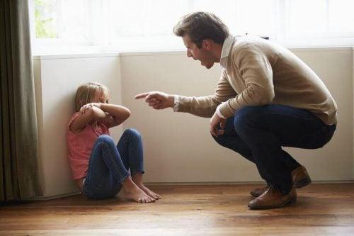 Verbale mishandeling van vader naar kind