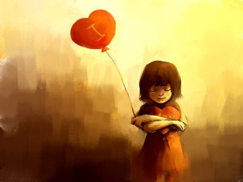 Hartvormige balon