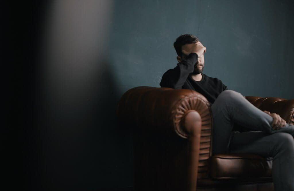 Man die niks voelt tijdens een depressie