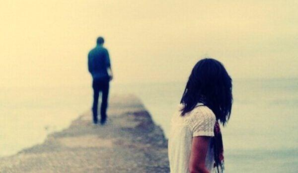 Jongen loop weg van meisje
