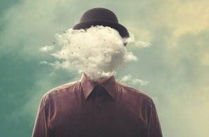 Man ervaart mentale storm