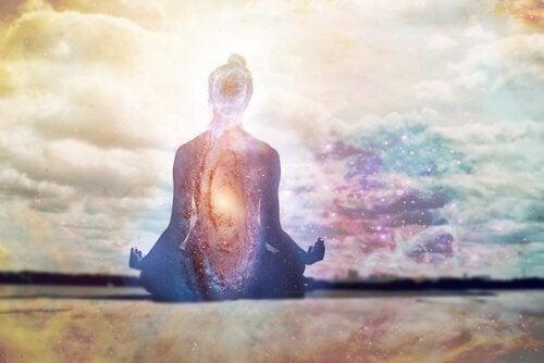 Mantra's herhalen heeft een kalmerende werking