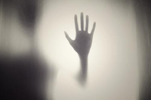 Silhouet van een hand