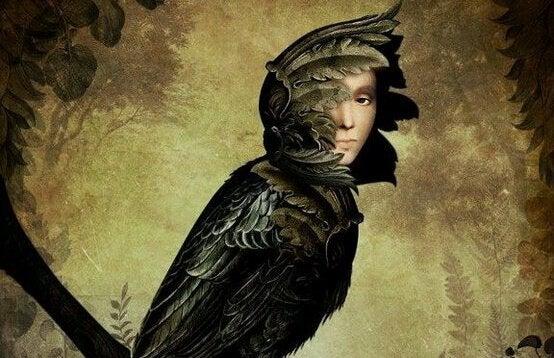 Vogel met mensengezicht