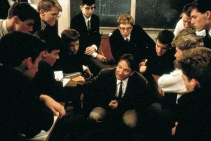 Screenshot uit de film Dead Poets Society