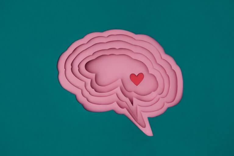 Hersenen waarin een hartje te zien is