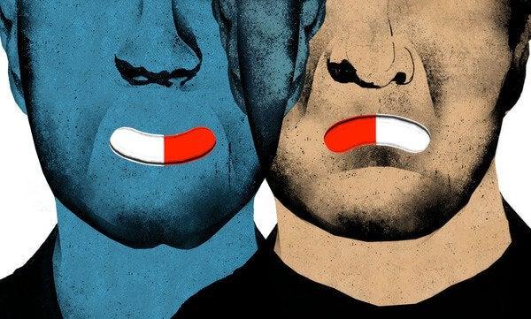 Mannen met pillen