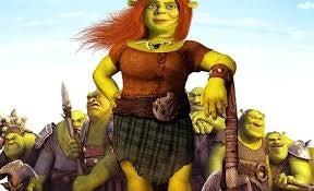 Een trotse prinses Fiona die haar eigen heldin is
