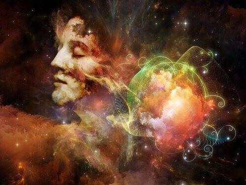 Vrouw in sterrenstelsel