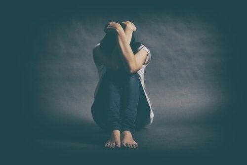 Depressieve vrouw