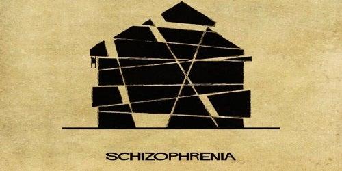 De voorstelling van schizofrenie als een huis