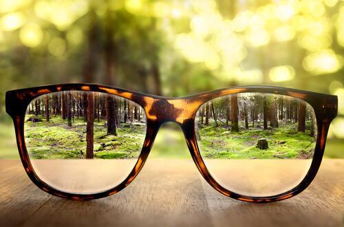 Nieuwe bril, symbool voor een nieuw perspectief