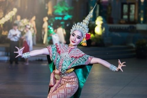 Dansende hindoe vrouw
