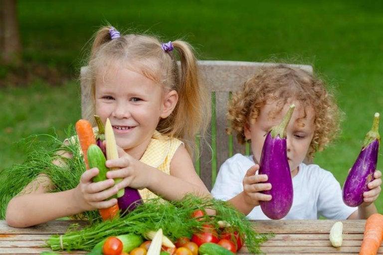 Kinderen met superfoods