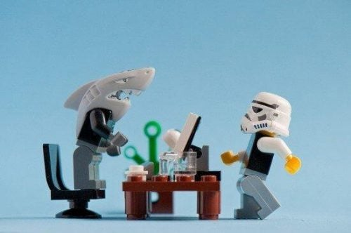 Giftige baan met lego